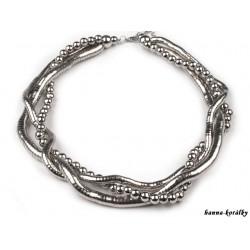 Kovový náhrdelník - třířadý