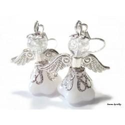 Náušnice - bílý anděl - andílek - andělíček