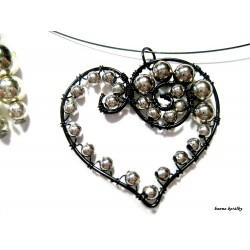 Souprava - náhrdelník srdce a náušnice