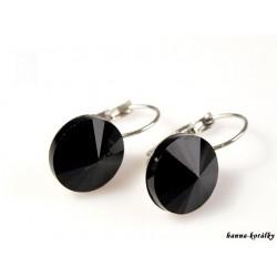 Náušnice s černým kamínkem
