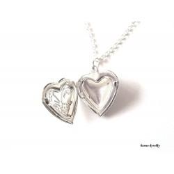 Řetízek s medailonem - srdce