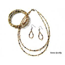 Souprava - náhrdelník  náušnice a náramek