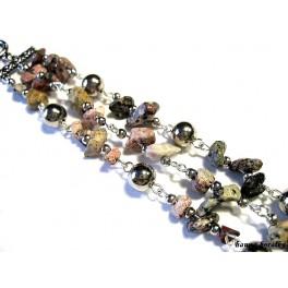 Náramek v kombinaci s minerálem - jaspis leopardí