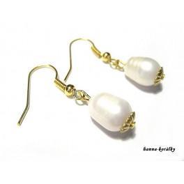 Náušnice - říční perly