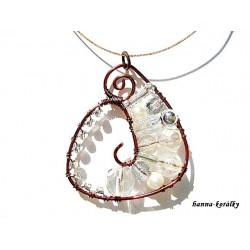 Souprava - drátkovaný náhrdelník a náušnice