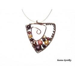 Souprava - měděný náhrdelník a náušnice