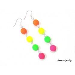 Náušnice barevné neonky