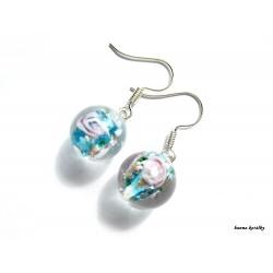 Náušnice - tyrkysové vinutky - vinuté perle