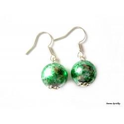 Náušnice 24 - zelené kuličky