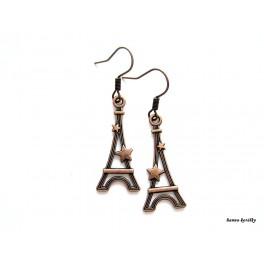 Náušnice - starostříbrná Eiffelovka