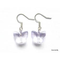 Náušnice - fialový motýlek