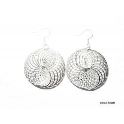 Náušnice stříbrné drátkované kruhy