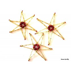 Vánoční ozdoby - hvězdy 6.