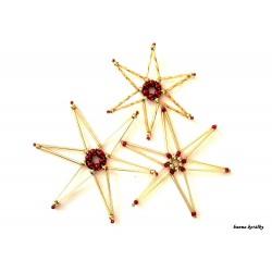 Vánoční ozdoby - hvězdy 7.