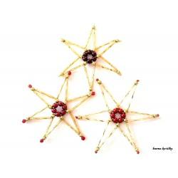 Vánoční ozdoby - hvězdy 17.