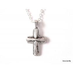 Řetízek - křížek s kamínky