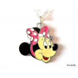 Řetízek Minnie s růžovou mašlí