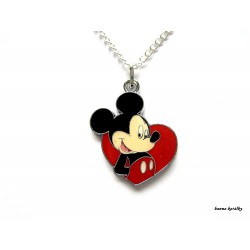 Řetízek Mickey - srdce