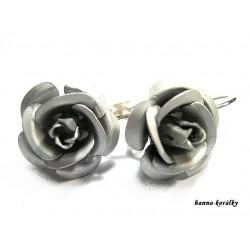 Náušnice - stříbrné růžičky