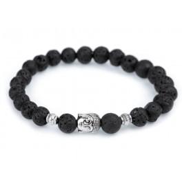 Buddha náramek - pánský - černý