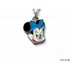Řetízek Minnie s modrou mašlí