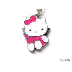Řetízek Hello Kitty a malinovou mašlí